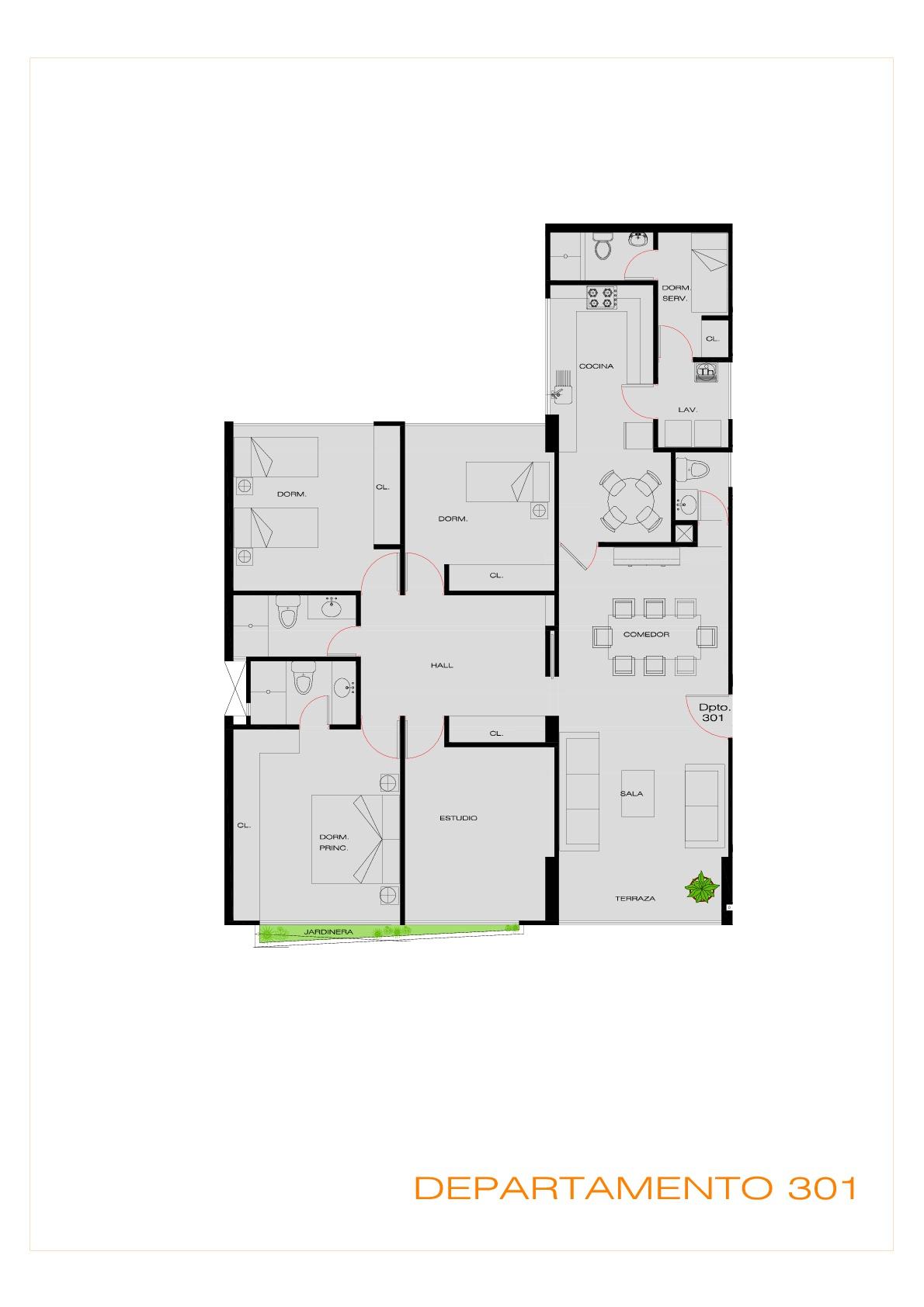 Proyecto edificio multifamiliar los huancas for Edificio de departamentos planos